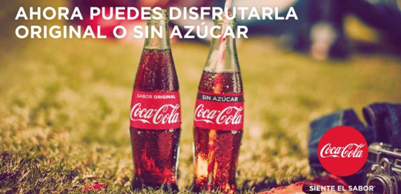 coca cola sin azucar 1 800x388 Coca Cola Sin Azúcar, el nuevo producto que sustituye a Coca Zero