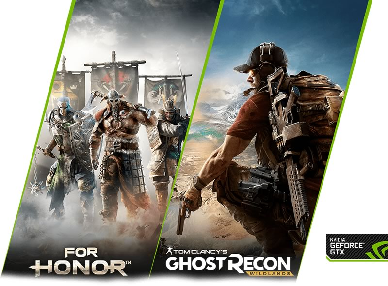 NVIDIa te regala For Honor o Tom Clancy's Ghost Recon Wildlands - for-honor-ghost-recon