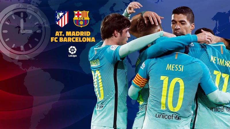 A qué hora juega Barcelona vs Atlético Madrid en la J24 de La Liga 2017 - horario-barcelona-vs-atletico-madrid-j24-liga-2017