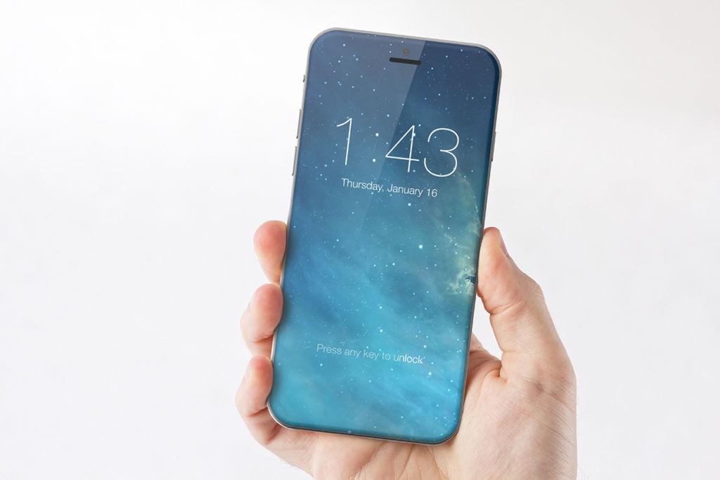 iPhone 8 poseerá un botón de inicio virtual - iphone-8-concept-all-screen