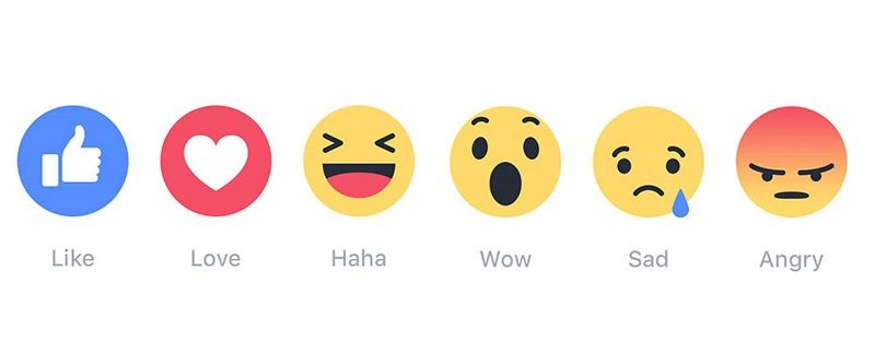 México es el país que más utiliza las reacciones de Facebook - las-cinco-nuevas-reacciones-de-facebook-2-800x333
