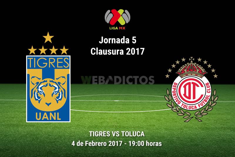 Tigres vs Toluca, Fecha 5 Clausura 2017 | Resultado: 0-1 - tigres-vs-toluca-j5-clausura-2017
