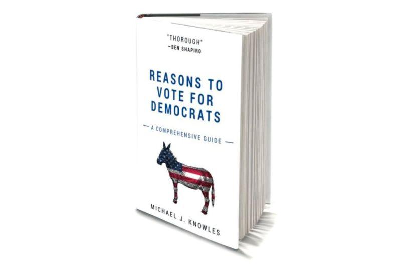 El libro más vendido de Amazon está compuesto de hojas en blanco - amazon-reasons-to-vote-for-democrats-book-cover