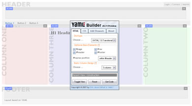 contructor de layouts YAML Builder Constructor de Layouts CSS En Linea