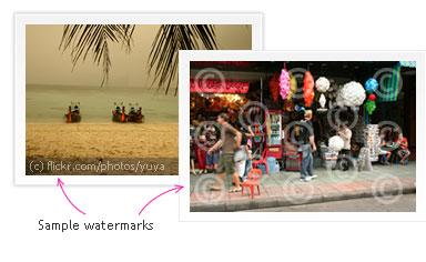 sample watermarks Agregar Marca de Agua a tus Imagenes en Linea