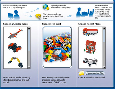 getstartedwindow Diseñador LEGO para tu computadora