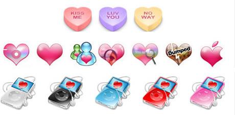 Iconos, Protectores de Pantalla, Wallpapers y Mas del dia del amor - iconos-amor-corazones