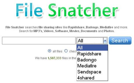 Buscar archivos en RapidShare, MediaFire y otros con File Snatcher - buscar-rapidshare-descargas