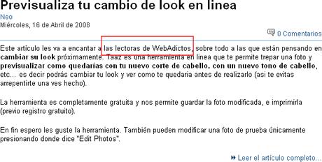 plagio elmanana Periodico el Mañana plagia contenidos de webadictos