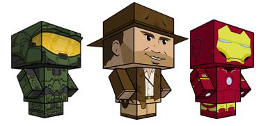 figuras recortables Muñecos recortables gratis en CubeeCraft