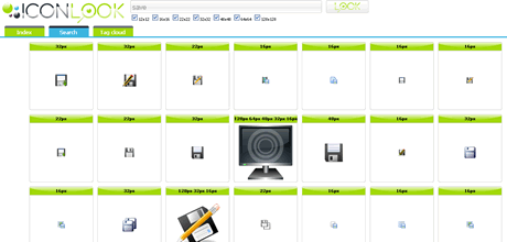 Buscar iconos de diferentes tamaños en ICONLook - iconos-gratis