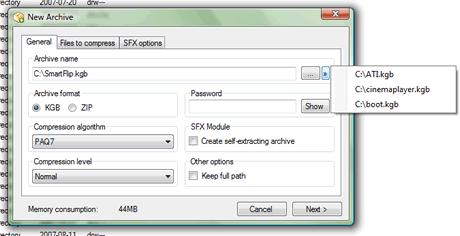Comprimir archivos con KGBArchiver - comprimir-archivos