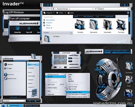 temas windows invader Temas Windows, AlienGUIse Theme Manager