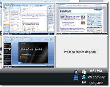 escritorios virtuales 1 Escritorios virtuales en Windows con Desktops v1.0