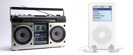 Gadgets del presente y del pasado que gran diferencia - gadgets-music