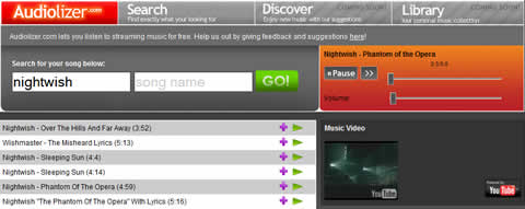 escuchar musica online Escuchar musica online en Audiolizer