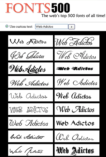 Fuentes gratis, Fonts 500 - fuentes-gratis