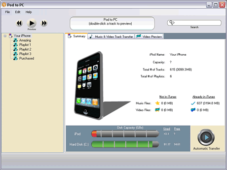 Copiar musica de cualquier ipod a la computadora con PodtoPC - copiar-musica-iphone-pc