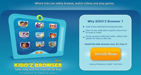 Navegador web para niños Kido'z - juegos-para-ninos1