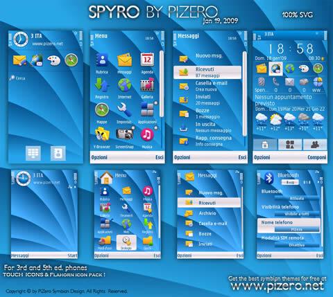 Temas nokia s60, Spyro - themes-nokia-spyro