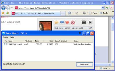 descargar musica last fm Descargar musica de Last.fm, MySpace y otros sitios con FreemusicZilla