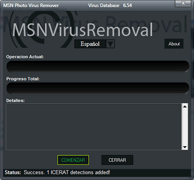 eliminar virus fotos msn Eliminar virus msn, con MSN Photo Virus Remover