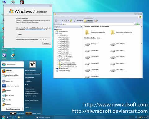 themes xp windows 7 Temas xp, Seven Remix XP