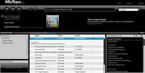Escuchar musica en MixTape.me - escuchar-musica-gratis
