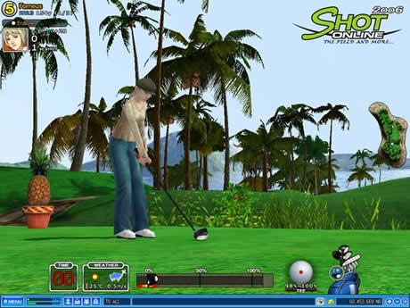 Juego de golf multijugador, Shot online - juegos-de-golf