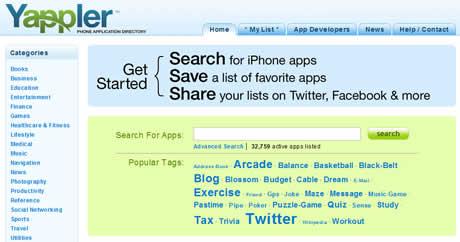 Aplicaciones iPhone, encuentralas en Yappler - aplicaciones-iphone