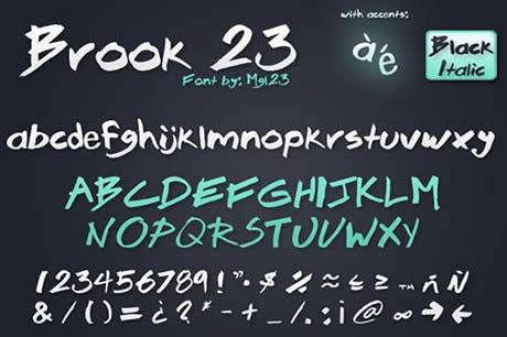 Fuentes gratis para mejorar tus diseños (21 fuentes) - descargar-fuentes-brook23