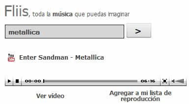 Musica online y videos de musica en Fliis - musica-online-youtube