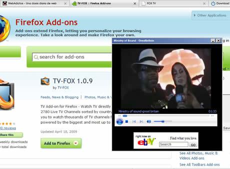 TV online desde Firefox con TV-Fox - tv-online-tv-fox