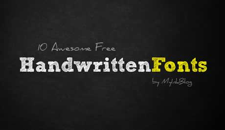 Fuentes manuscritas, 10 excelentes fuentes gratis - fuentes-cursivas-gratis
