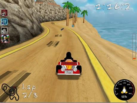Juegos de carreras, SuperTuxKart - juegos-de-autos