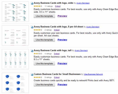 tarjetas presentacion Tarjetas de presentacion, crealas gratis en Google Docs