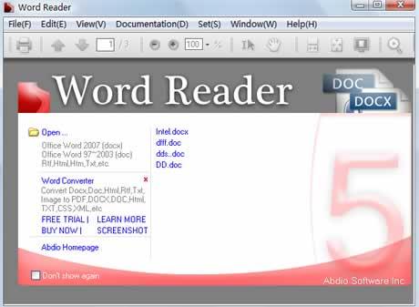 Abrir archivos de word sin office con Word Reader - archivos-word