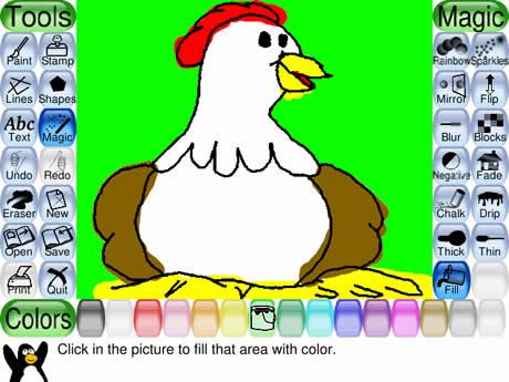 programas ninos dibujo Programas para niños, TuxPaint