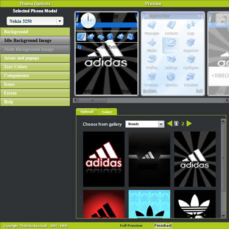 Temas para nokia, crealos online en Theme Creator - themes-nokia-creator