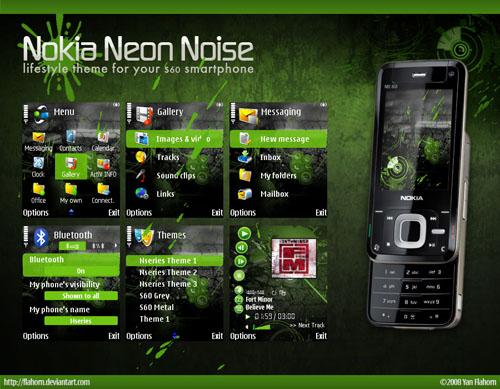 7 Bonitos temas para Nokia-Symbian - Nokia_Neon_Noise