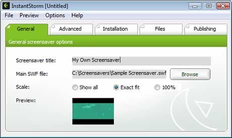 Protectores de pantalla, crealos con instantstorm - screensavers-instantstorm