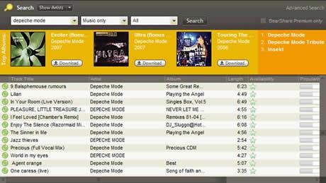 descargar musica Descargar musica gratis con BearShare