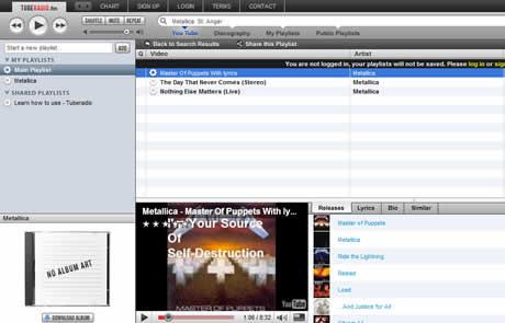 Escuchar musica y ver videos de youtube en TubeRadio.fm - escuchar-musica