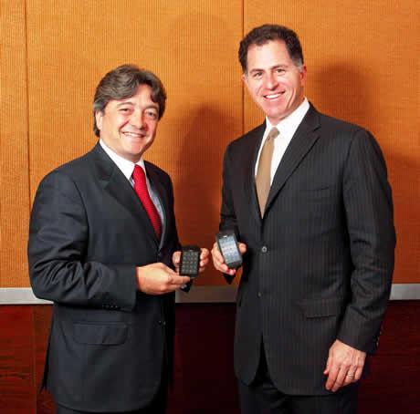 Dell confirma su smartphone Mini 3 - Michael-Dell-y-Joao-Cox