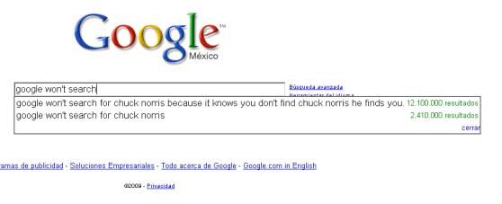 Google no va a buscar, curioso resultado de la función autocompletar