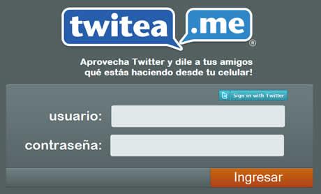 Twittea mediante SMS con Twitea.me - twitea.me