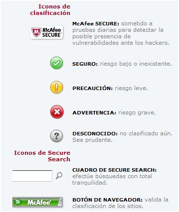 enlaces virus mcafee Detectar enlaces maliciosos con McAfee SiteAdvisor