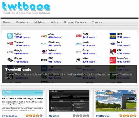 aplicaciones twitter Aplicaciones twitter en Twtbase