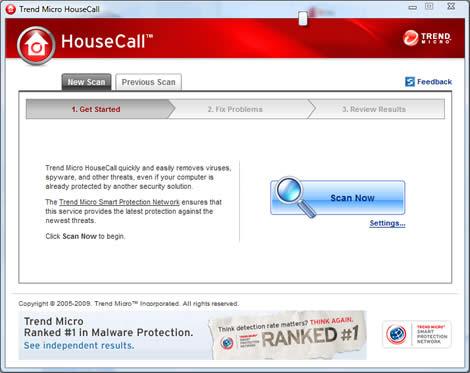 Antivirus online, Housecall - antivirus-en-linea-gratis