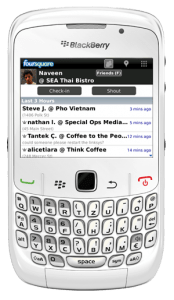 bbfqs 174x300 Foursquare al fin disponible para Blackberry